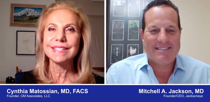 A screenshot of a video with Doctors Cynthia Matossian and Mitchell A. Jackson